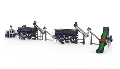 500kg PP woven bags washing line