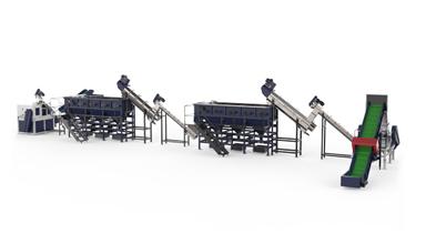 500kg/h PE Film Plastic Recycling Washing  Machine